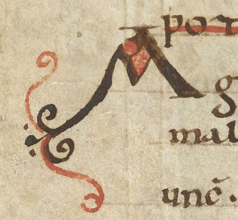 A in the margin